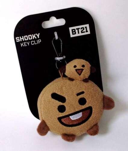 """Plush Key Clip 3/""""//77cm SHOOKY BT21 Line Friends"""