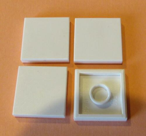 LEGO Parts~ 4 Tile 2 x 2  WHITE 3068
