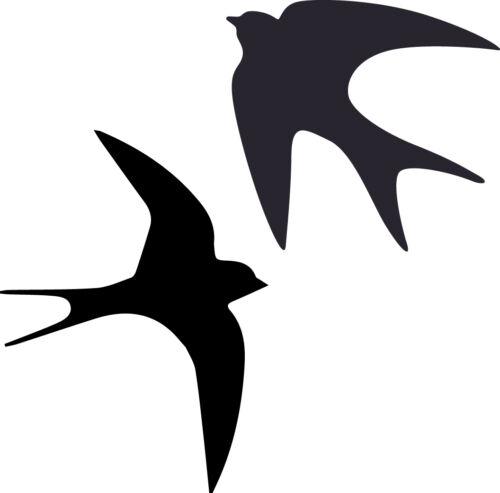 Window Wall Vehicle Display Swallow Bird Silhouette Decal Vinyl Sticker Craft