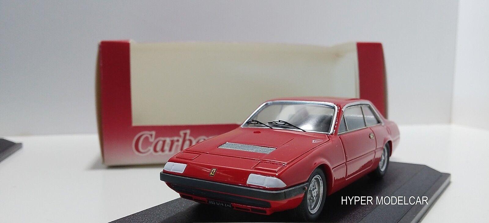 CARBONE 1 43 Ferrari 365 GT4 2+2 1976 rouge Art. CAR004R