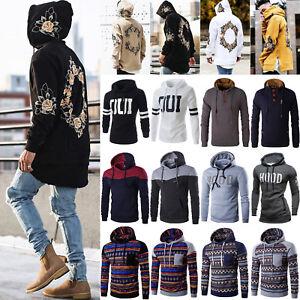 Mens-Hoodie-Pullover-Hooded-Jumper-Sweater-Jacket-Sweatshirt-Coat-Casual-Outwear