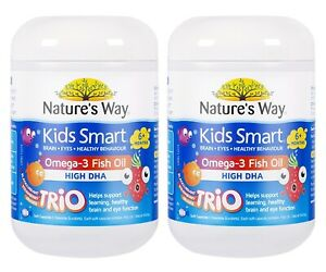 Nature-039-s-Way-Kids-Smart-Omega-3-Fish-Oil-Trio-180-Capsules-2x-TWIN-PACK