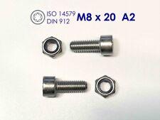 10 Stück Zylinderschraube DIN912 ISO4762 M8x50 Edelstahl A2 TX