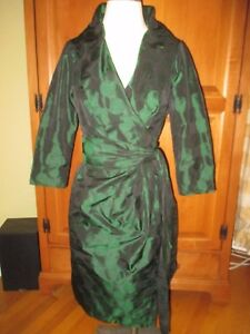 Image Is Loading Euc Las Carlisle Jewel Emerald Green Silk Taffeta