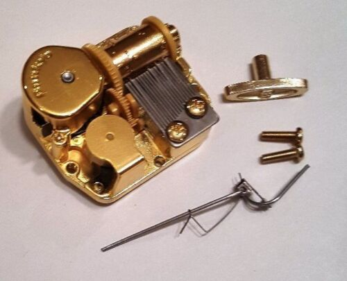 """Sankyo 18 Note Music Box Movement With Reuge Wire Stopper-/""""Anchors Aweigh/"""""""