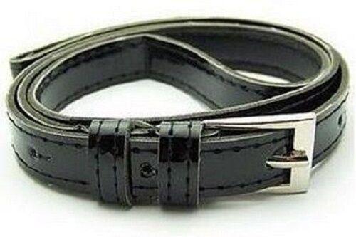 Moda Croce Fibbia da Donna o Ragazza Similpelle Color Caramella Sottile Cintura