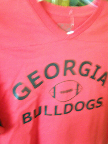 Georgia Bulldogs Licensed V-Neck T-shirts NWOT L XL Youth Varsity Classics