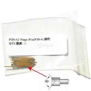 100pcs-P50-A2-Dia-0-68mm-Length-16mm-75g-Spring-Test-Probe-Pogo-Pin