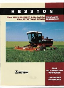 Original Hesston 8500 Windrower 1360 Mower Conditioner Sales