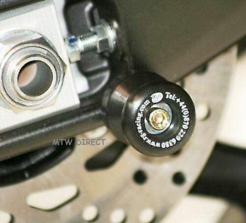 Yamaha MT-10 MT10 2019 R/&G Racing Black M6 Cotton Reels Paddock Stand Bobbins