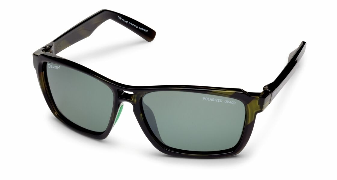DEMON SYMBOL shiny green Sportbrille - polarisierend polarized