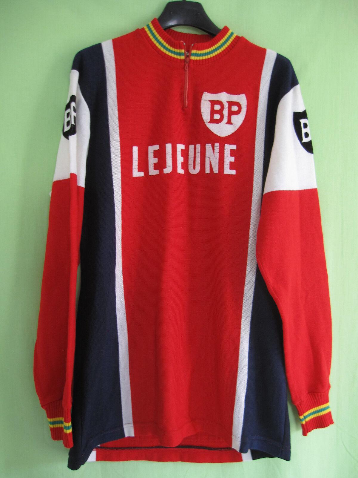 Maillot Cycliste Lejeune BP 1976 vintage 70'S acrylique Jersey - 4   L