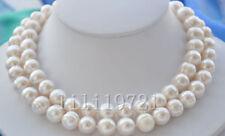 """34"""" 12-13mm weißen Süßwasser Perlenkette"""