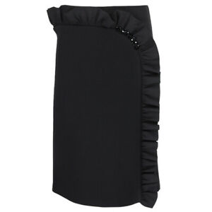 Simone-Rocha-Black-Neoprene-Ruffle-Edged-Skirt-UK8-IT40