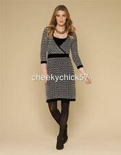 BNWT Monsoon Soft Knit Black & White Jumper Dress - Size 16-18  Large