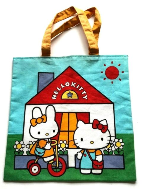bc663ef5a HELLO KITTY Mini TOTE BAG 1976 Vintage Sanrio Free Ship JAPAN
