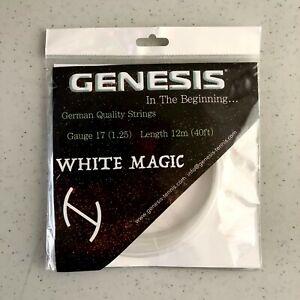 1-SET-GENESIS-WHITE-MAGIC-17-German-Made-Tennis-Racket-String