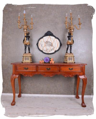 Konsolentisch Massivholz Tischkonsole Wandtisch antik Konsole Mahagoni Tisch neu
