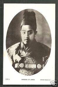 Details about Korea Emperor Gojong Gwangmu photo postcard ca 1909