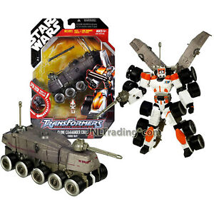 Year 2007 Star Wars Transformers 7 Inch Figure CLONE COMMANDER CODY Turbo Tank