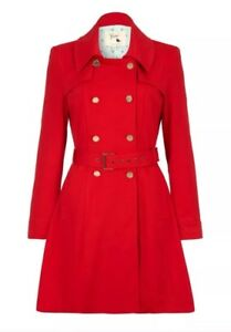 o 12 Hot Smart Coat Fabric Ponte Yumi Uk Bnwt Giorno Red Trench sera 7naYT