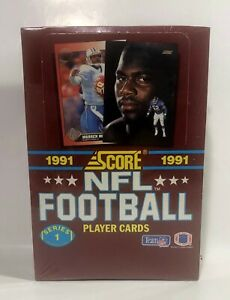 1991-Score-Football-series-1-Football-factory-sealed-card-box-36pks