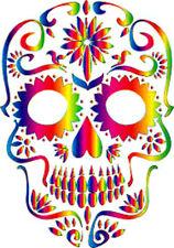 20 water slide nail art transfer manicure decals sugar skull colorful trending
