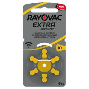 *Genuine* Rayovac Extra MERCURY FREE Hearing Aid Batteries Size 10. Expires 2022