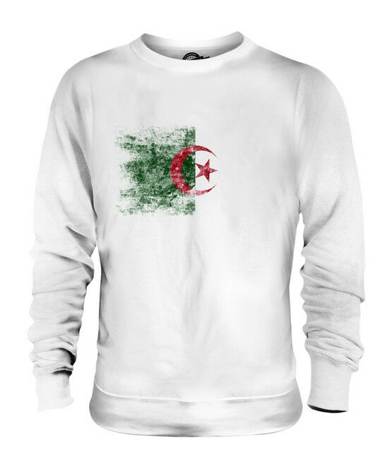 ALGERIA DISTRESSED FLAG UNISEX SWEATER TOP DZAYER ALGERIAN AL-JAZA'IR SHIRT
