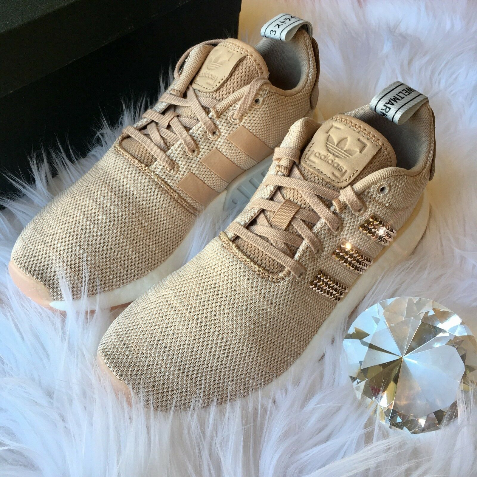 Bling Adidas NMD ROSE GOLD Women's Shoes w/ Swarovski Crystals
