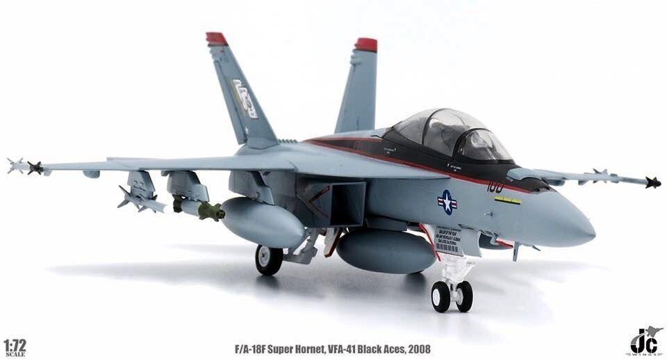 preferente JCW72F18001 1 72 F A-18F súper Hornet ases ases ases USS Nimitz VFA-41 Negro CVN-68 2008  100% autentico