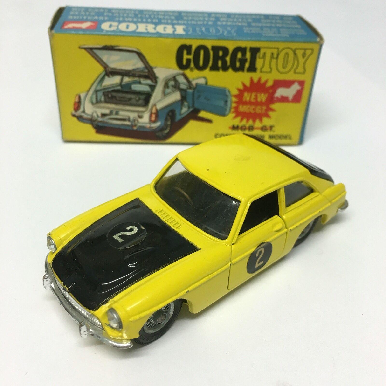 Vintage corgi spielzeug nr. 345 neue mg auf ( gt  mg auf ( ist konkurrenz - modell box