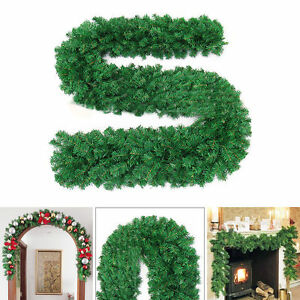 2-7m-x-25cm-Guirlande-Arbre-Sapin-Noel-Decorations-Cheminee-Lierre-Couronne