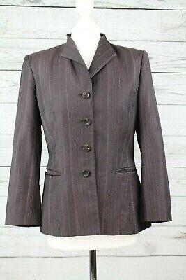 Austin Reed Signature Ladies Tailored Dark Purple Grey Jacket Uk 10 Ebay