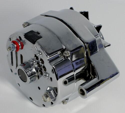 GM CHROME 120 AMP 10SI 1 ONE OR 3 THREE WIRE SBC BBC CHEVY ALTERNATOR S-3902