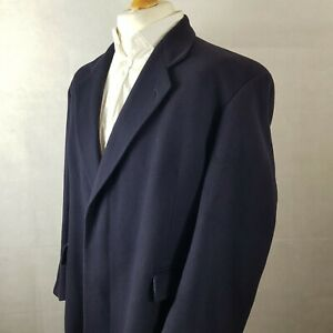 Austin Reed Mens Luxurious 100 Cashmere Overcoat Navy Size 42 Full Length Smart Ebay