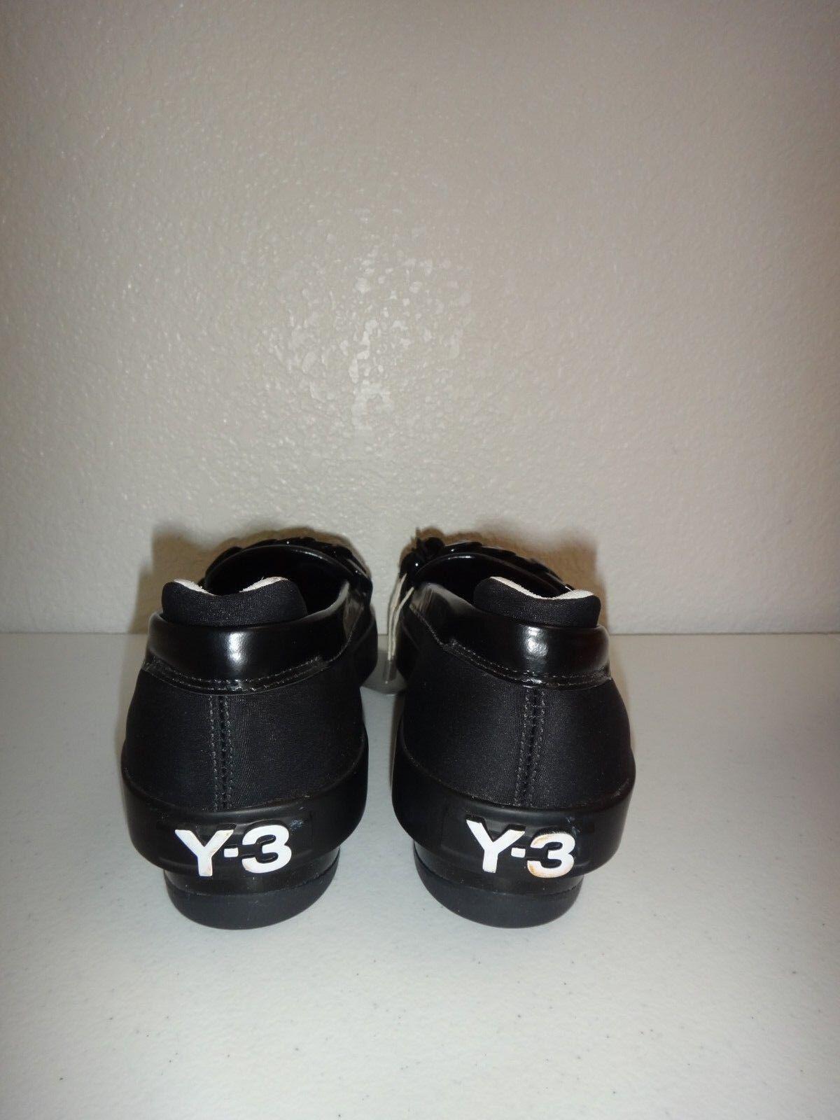 Y-3 Y-3 Y-3 Yohji Yamamoto plataforma Penny II para Mujer Mocasines Planos Cuero Negro EE. UU. Sz 5.5 674984