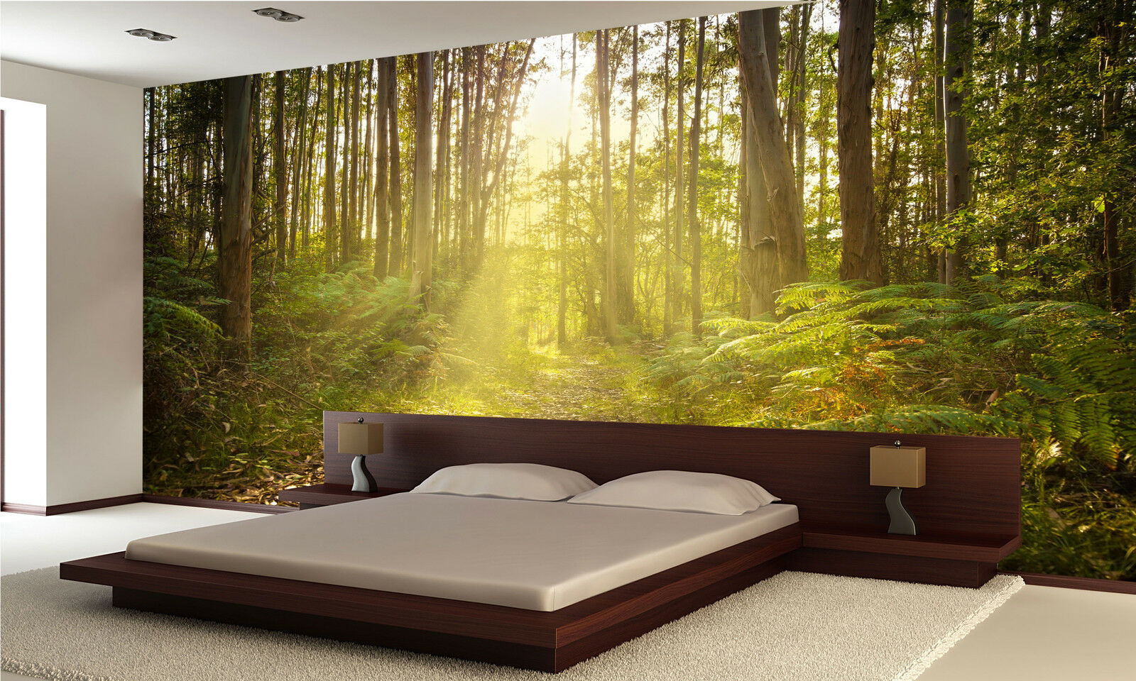 Photo Wallpaper Footpath in a forest GIANT WALL DECOR PAPER POSTER FOR BEDROOM