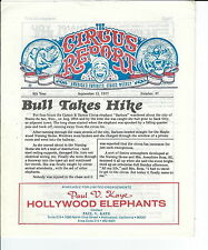 MB-056 - The Circus Report, Bull Takes Hike, September 12, 1977 Issue Vintage