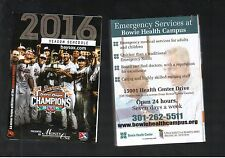 2016 BOWIE BAYSOX POCKET SCHEDULE