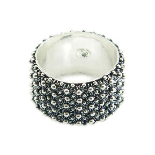 Fede sarda anello Sardegna filigrana sarda fascia 5 file argento brunito 925