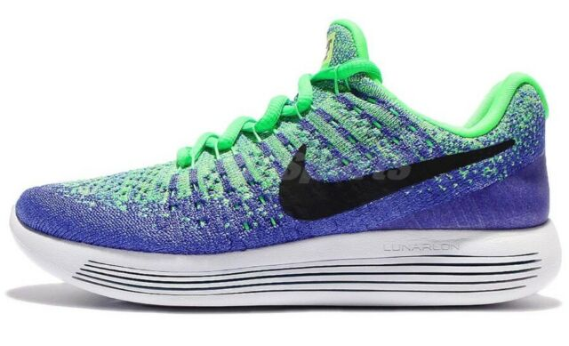 quality design 1c78a 2ee38 Nike Lunarepic Low Flyknit 2 GS II Green Blue Kid Running Shoes 869990-301  6.5 Y
