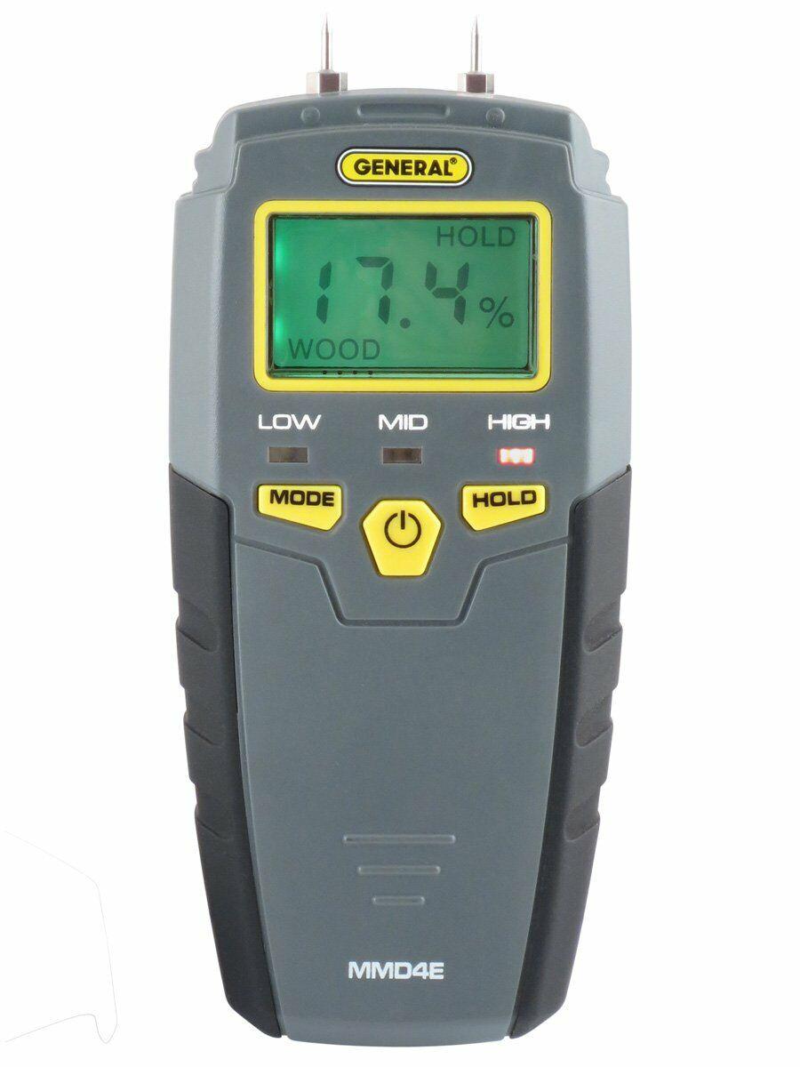 General Tools MMD4E Digital Moisture Meter, Water Leak Detector, Moisture Teste