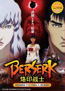 DVD-Japan-Anime-BERSERK-Complete-Season-1-2-Series-1-25-End-English-Subtitle