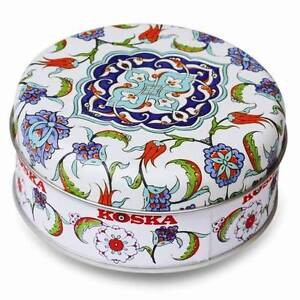 Home & Garden Candy, Gum & Chocolate Sweet-Tempered 120g Tin Rose Lemon Turkish Delight Iznik Valentines Day Gift Soft Chewy Sweets