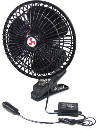 12 V Volt Ventilator Lüfter klemmbar KFZ Auto Camping Boot Zigarettenanzünder