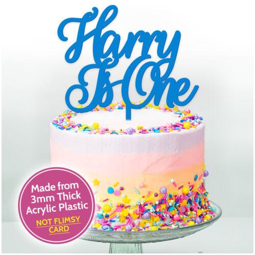 1st Premier Anniversaire Personnalisé Birthday Cake Topper Gâteau Décoration Tout Âge