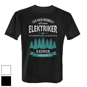 elektriker herren t shirt fun shirt spruch beruf arbeit geschenk idee lustig ebay. Black Bedroom Furniture Sets. Home Design Ideas
