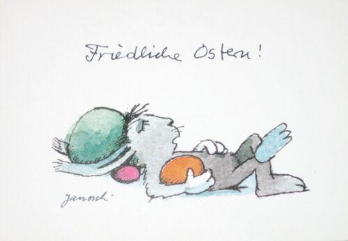 """/""""Friedliche Ostern!/"""" Janosch Grußkarte Ostern"""
