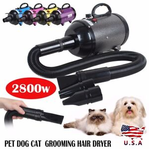 2800W-Low-Noise-Pet-Dog-Cat-Grooming-Hair-Dryer-Blower-Variable-Speed-Heat-New